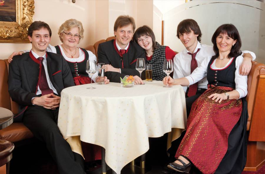 Family Scheiblauer in the hotel in Lower Austria